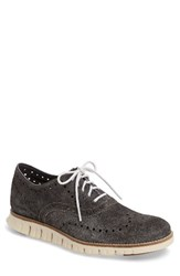 Cole Haan Men's 'Zerogrand' Wingtip Oxford Grey Suede