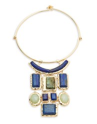 Bcbgmaxazria Statement Collar Necklace Blue Stone