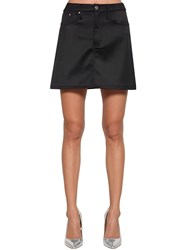 Calvin Klein Jeans Satin Mini Skirt Black