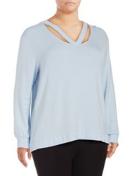 Marc New York Plus Ribbed Cut Out Pullover Powder