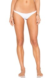 Vitamin A Samba Ruched Back Bikini Bottom White
