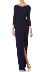 Laundry By Shelli Segal Women's Matte Jersey Gown Midnight