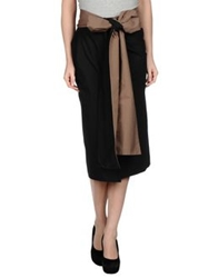 Gentryportofino 3 4 Length Skirts Black