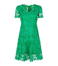 Elie Tahari Samira Lace Dress Female Bright Green