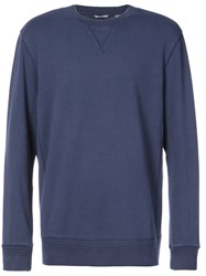 Michael Bastian Crew Neck Longsleeved Sweatshirt Blue