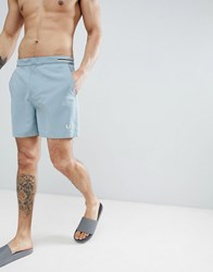 Fred Perry Riviera Tape Swim Shorts In Light Green