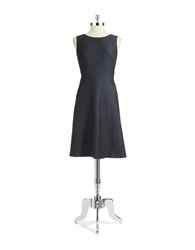 Jones New York Sleeveless Fit And Flare Dress Navy