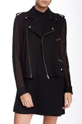 American Retro Marly Sheer Mesh Sleeve Jacket Black