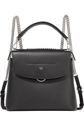 Fendi Back To School Large Leather Backpack Black