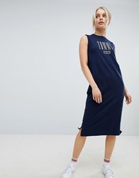 Tommy Jeans Tank Midi Dress Black Iris Navy