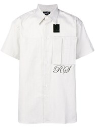 Fred Perry Raf Simons X Loose Fit Grid Print Shirt White