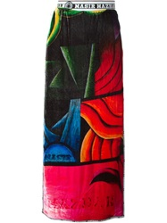 Nasir Mazhar Asymmetric Panels Printed Skirt