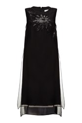 Almost Famous Sheer Silk Party Dress Black