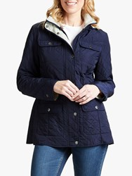 Four Seasons Polar Quilted Fleece Jacket Navy