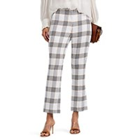 Manning Cartell Checked Crop Flared Trousers White
