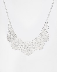 Oasis New Lace Collar Necklace Rhodium Silver
