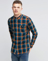 Bench Long Sleeve Check Shirt With Pocket Navy