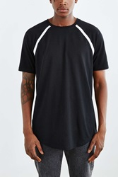 The Narrows Tipped Raglan Tee Black