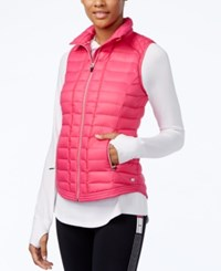 Tommy Hilfiger Quilted Zippered Vest Fuchsia