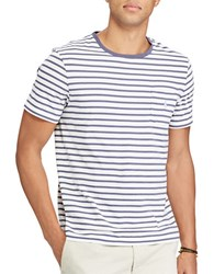 Polo Big And Tall Striped Cotton Tee White