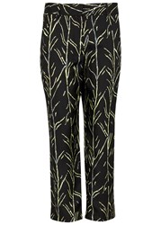 Proenza Schouler Printed Cropped Silk Twill Trousers