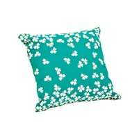 Fermob Trefle Outdoor Cushions Set Of 2 Style 2 Small 17 In W X 17 In D Turquoise