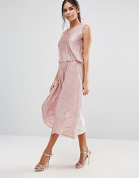 Club L Midi Skirt With Shimmer Blush Pink