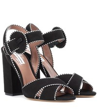 Tabitha Simmons Andres Suede Sandals Black