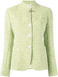 Fay Tweed Jacket Green