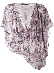 Alexander Mcqueen Marble Print Blouse Ivory