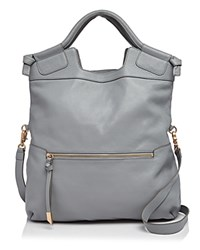 Foley Corinna And Mid City Leather Tote Misty Grey Gold