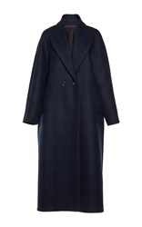 Martin Grant Oversized Checked Men's Coat Navy