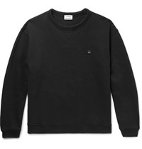 Acne Studios Fint Fleece Back Cotton Jersey Sweatshirt Black
