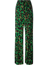 Versace 'Camoupard' Palazzo Trousers Black