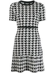 Paule Ka Short Houndstooth Dress Black