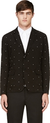Band Of Outsiders Black Cotton Embroidered Polkadot Blazer