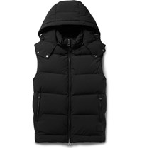 Dunhill Quilted Stretch Shell Hooded Down Gilet Black