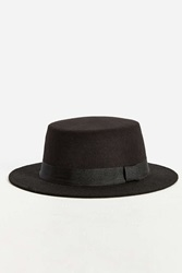 Urban Outfitters Tall Crown Pork Pie Hat Black