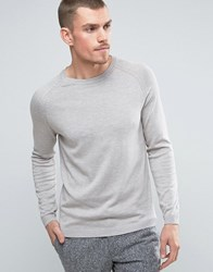 Selected Homme Crew Neck Jumper Dove Stone