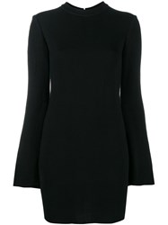 Ellery Bell Sleeve Mini Dress Black