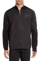 Nike Men's Technical Woven And Knit Zip Track Jacket