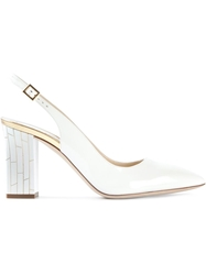 Pollini Block Heel Pumps White