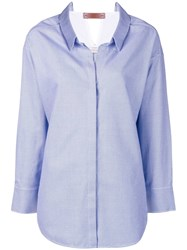 Dorothee Schumacher Neo Oversized Shirt Blue