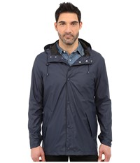 Cole Haan 32 Rubberized Rain Jacket Navy Men's Coat