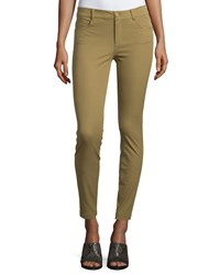 Minnie Rose Skinny Ankle Pants Olive