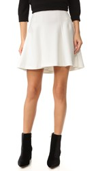 Alice Olivia Sibel Fit And Flare Skirt Off White