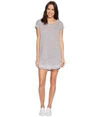 Allen Allen Crisscross Back Dress Medium Grey Women's Dress Gray