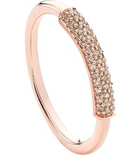 Monica Vinader Stellar 18Ct Rose Gold Plated And Champagne Diamond Ring