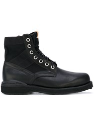 Visvim Lace Up Boots Men Cotton Calf Leather Leather Rubber 10.5 Black