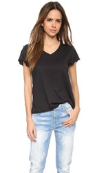 Zoe Karssen Loose Fit V Neck Tee Pirate Black